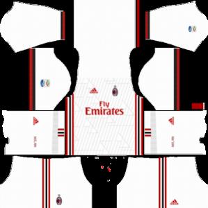 AC Milan Away Kit  sc 1 st  Dream League Soccer Kits & Dream League Soccer Kits Logo 2017/18 with URL