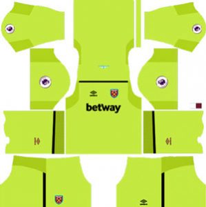 West Ham United GK Home Kit
