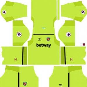 West Ham United GK Home Kit